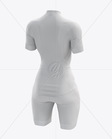 Women's Cycling Kit mockup (Back Half Side View)