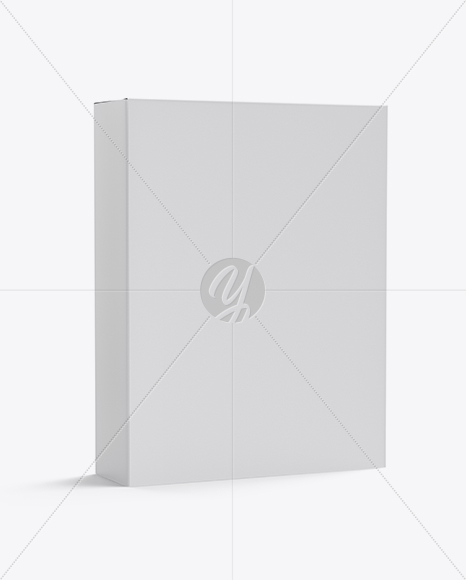 Paper Box Mockup - Half Side View
