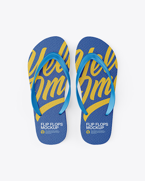 Download Flip Flops Mockup Half Side View High Angle Shot Yellowimages