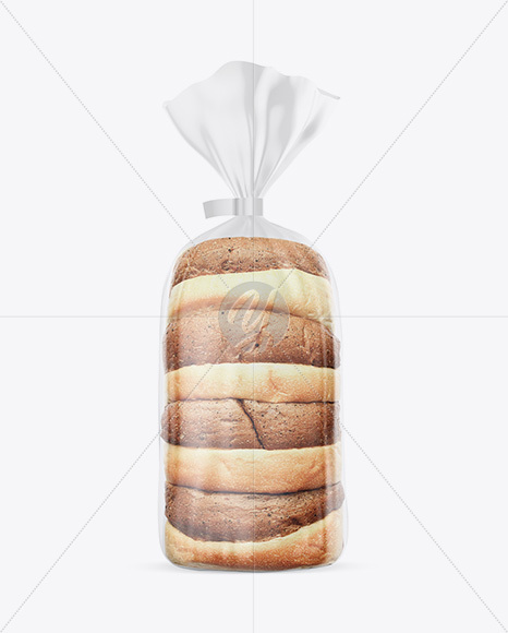 Matte Transparent Bread Package With Clip Mockup