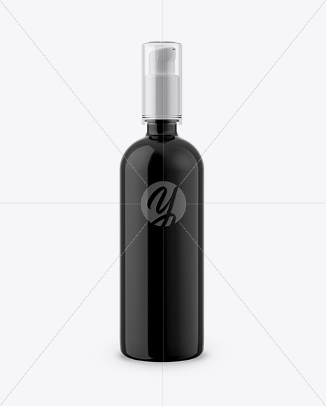 200ml Glass Bottle with Pump Mockup