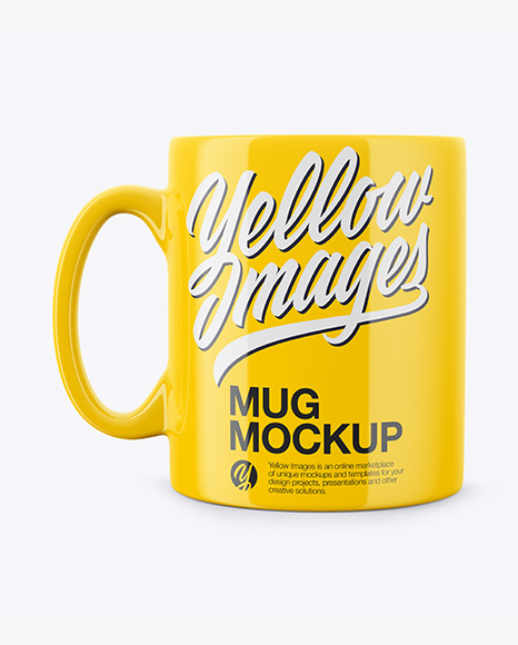 Download Metallic Mug With Tea Label Mockup Front View PSD - Free PSD Mockup Templates