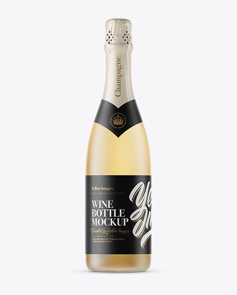 Download Frosted Glass Champagne Bottle Mockup Object Mockups