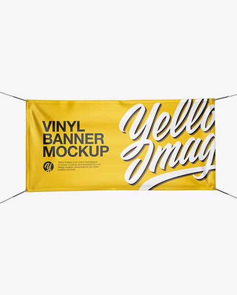 Glossy Vinyl Banner Mockup