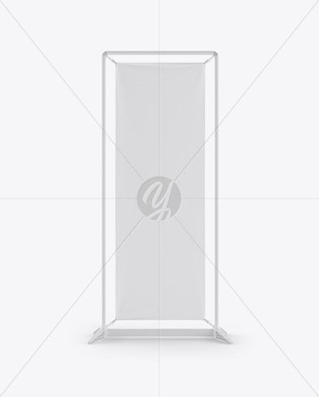 Matte Vinyl Banner Frame Stand Mockup