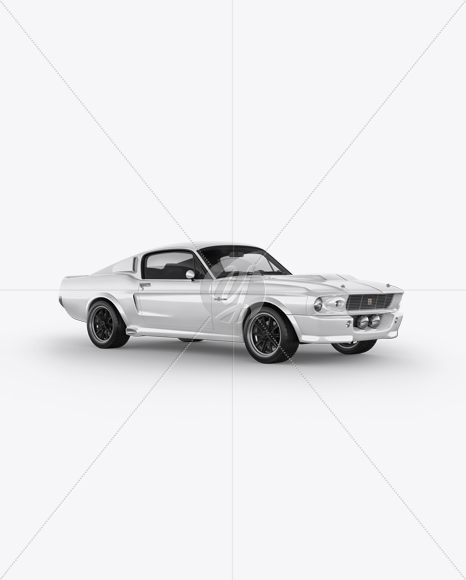 1967 Shelby Mustang GT500 Mockup - Half Side View in