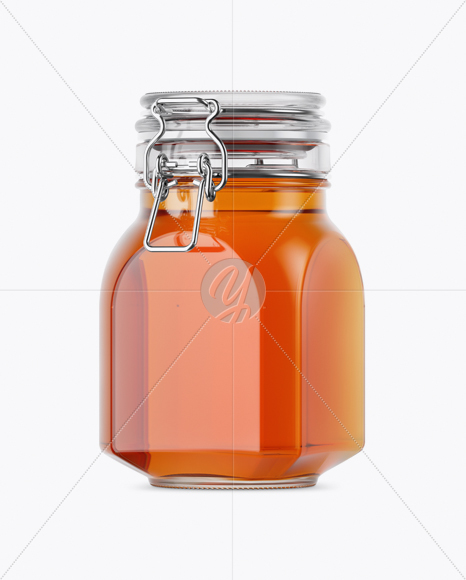 Download 900ml Pure Honey Glass Jar W Clamp Lid Mockup Half Side View In Jar Mockups On Yellow Images Object Mockups PSD Mockup Templates