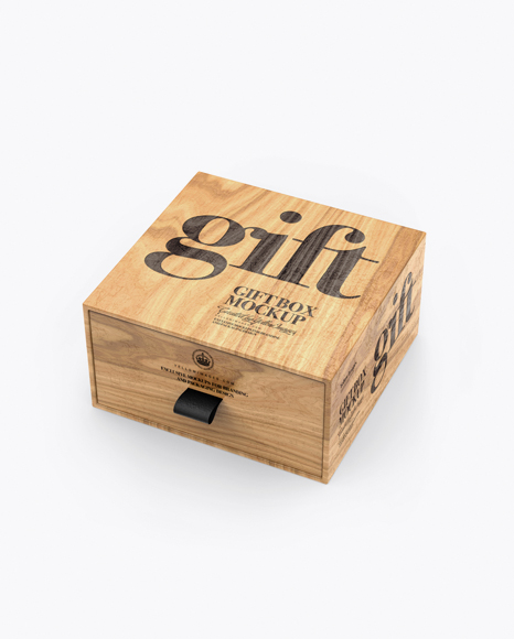 Wooden Gift Box Mockup