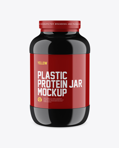 Download Glossy Protein Jar Mockup Object Mockups