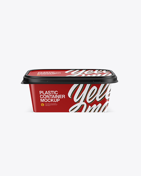 Download Matte Plastic Container Mockup Object Mockups
