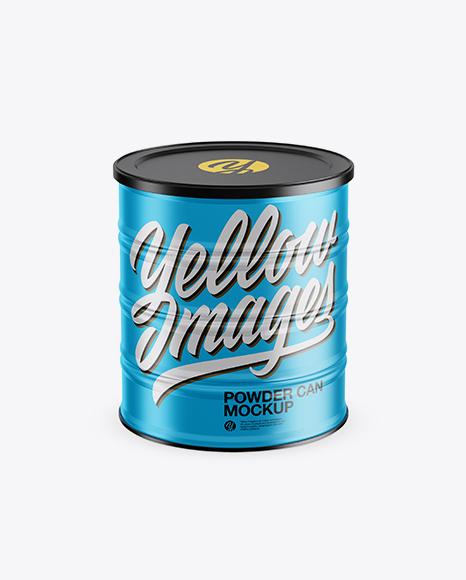 Download Metallic Powder Can Mockup (High-Angle Shot) Object Mockups