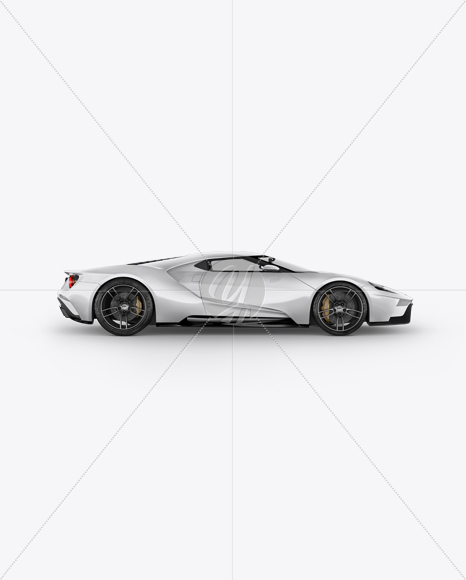 Ford Gt Ii Mockup Side View