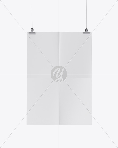 Textured Vertical Paper Poster Mockup