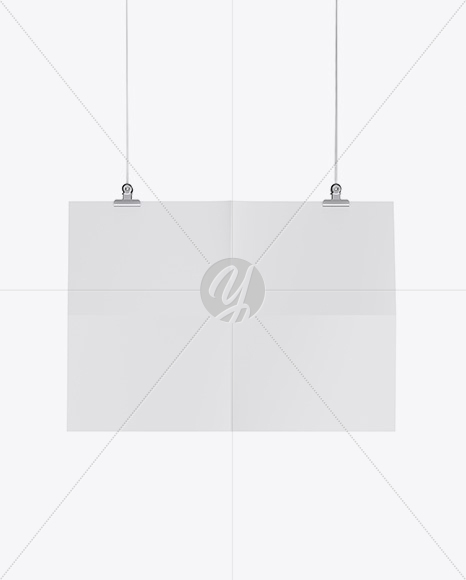 Textured Horizontal Paper Poster Mockup