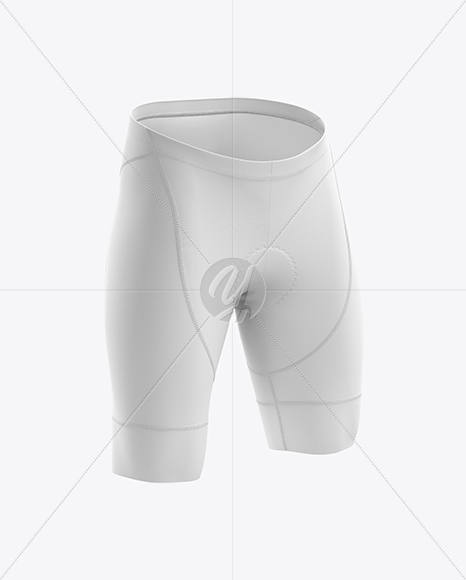 Download Men S Cycling Shorts V2 Mockup Back Left Half Side View In Apparel Mockups On Yellow Images Object Mockups