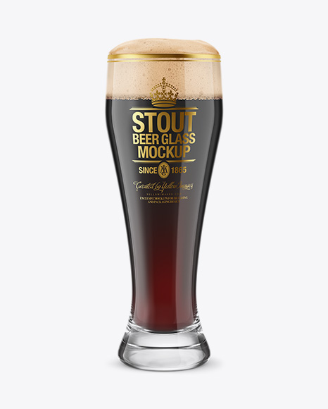 Weizen Glass with Stout Beer PSD Mockup 28.76MB