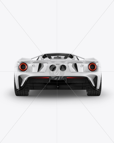 Ford Gt Ii Mockup Back View
