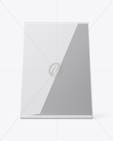 Plastic Table Tent Mockup - Front View in Indoor Advertising Mockups on Yellow Images Object Mockups & Plastic Table Tent Mockup - Front View in Indoor Advertising ...