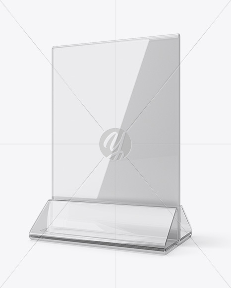 preview-01 & Plastic Table Tent Mockup - Half Side View in Indoor Advertising ...