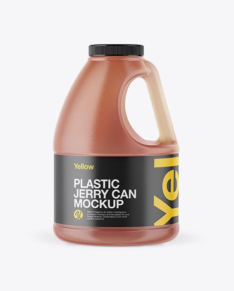 Download Plastic Jug with Honey Mockup Object Mockups