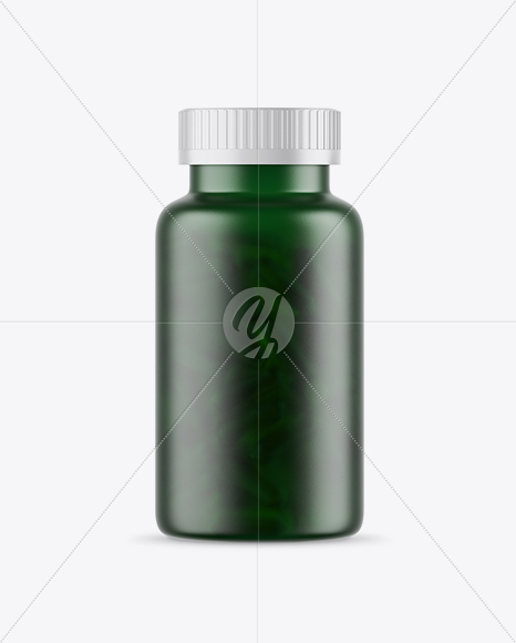 Frosted Green Fish Oil Bottle Mockup