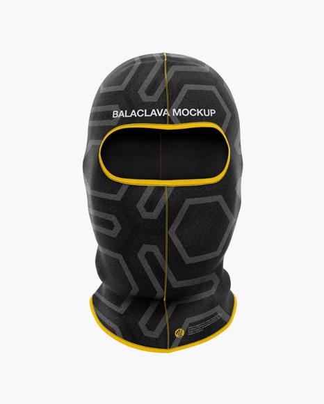 Balaclava Mockup - Front View