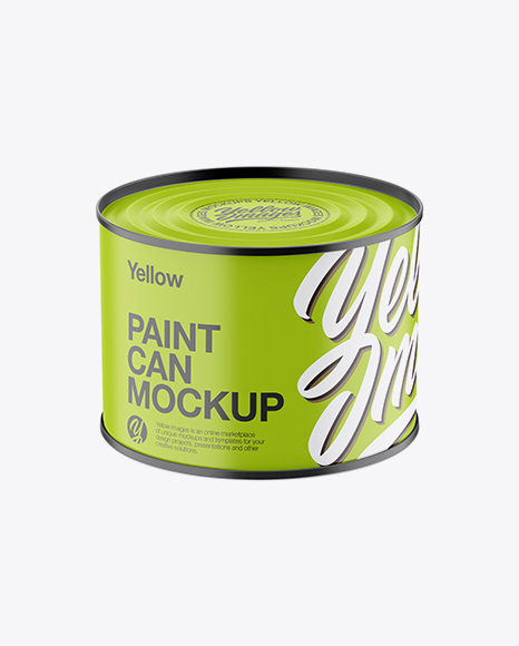 Download Free Matte Paint Can Mockup - High-Angle Shot PSD Template