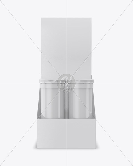 8 Glossy Sport Nutrition Tubes Display Box Mockup