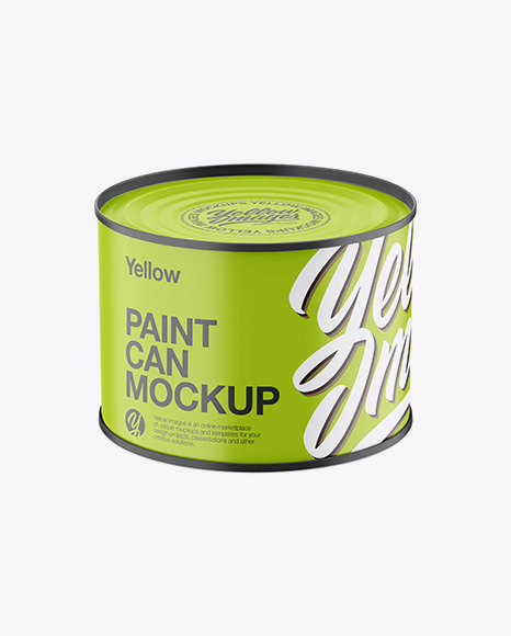 Download Matte Paint Can Mockup - High-Angle Shot Object Mockups