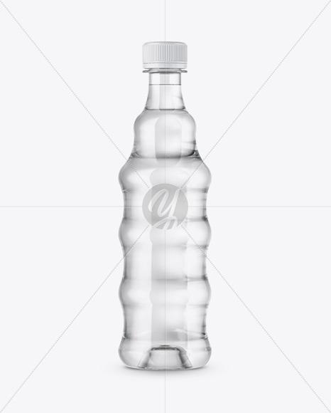 Plastic Bottle In Shrink Sleeve Mockup