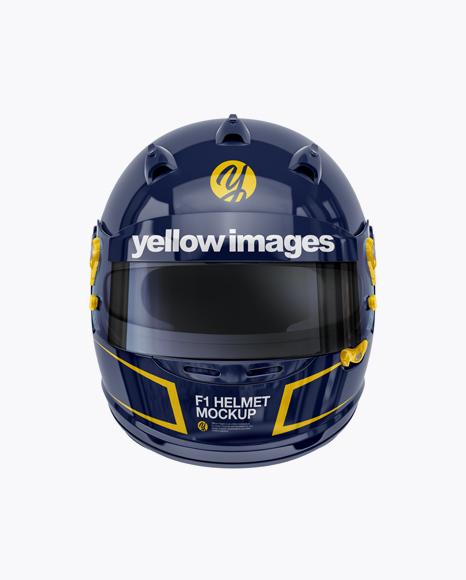 Download F1 Racing Kit Mockup Half Side View Yellow Images