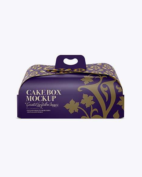 Download Cake Box - Front View Object Mockups