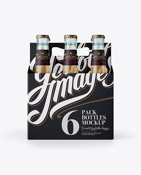 Download White Paper 6 Pack Beer Bottle Carrier Mockup In Bottle Mockups On Yellow Images Object Mockups PSD Mockup Templates
