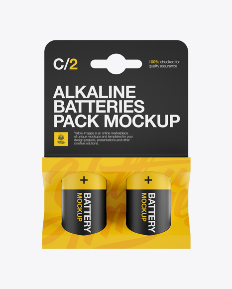 2 Pack Mat Battery C Mockup - Front View