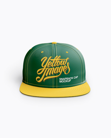 Download Snapback Cap Mockup Rear View Yellow Images
