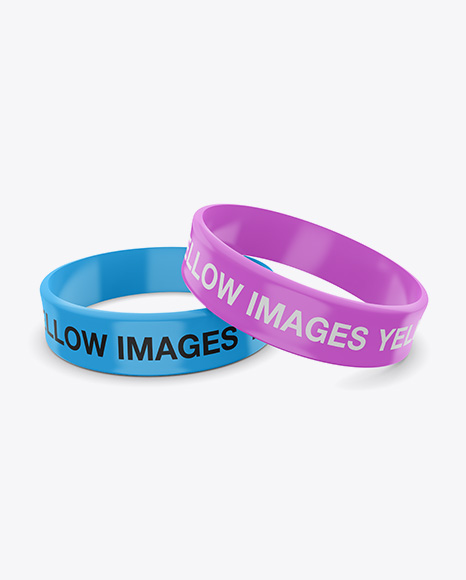 Download Thick Glossy Silicone Wristbands Mockup Object Mockups