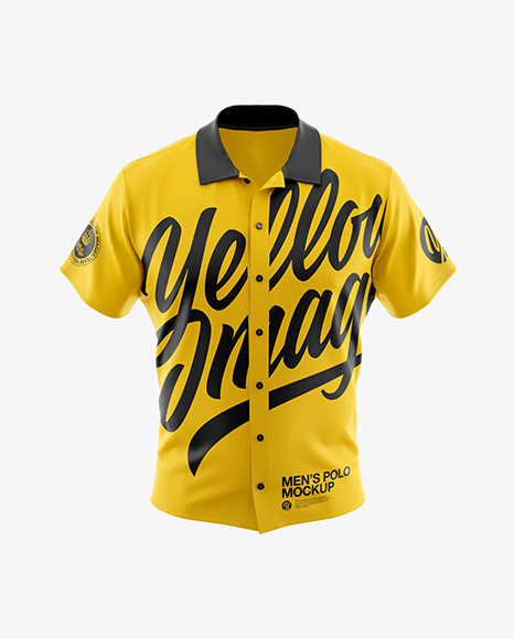 Men's Polo Shirt Mockup (Front View)