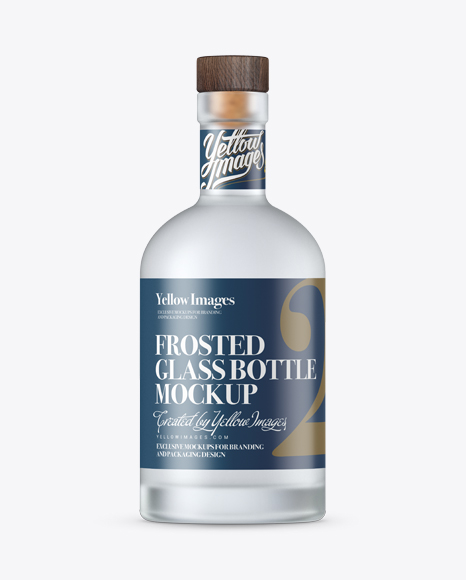 Download Frosted Vodka Bottle With Shrink Band Mockup PSD - Free PSD Mockup Templates