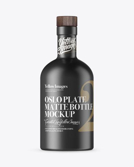 Download Matte Oslo Plate Bottle Mockup In Bottle Mockups On Yellow Images Object Mockups PSD Mockup Templates