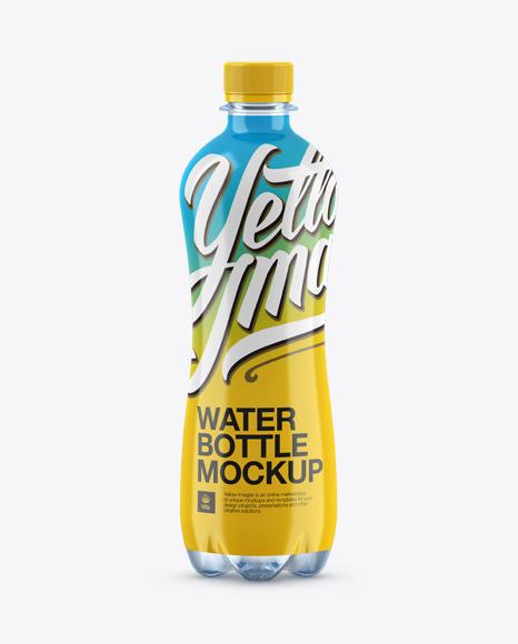 500ml PET Shrink Sleeve Label Bottle Mockup