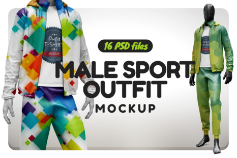 Male Sport Outfit Mockup In Apparel Mockups On Yellow Images