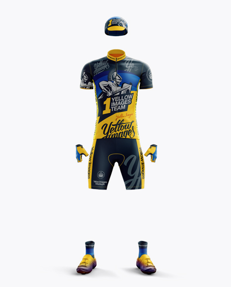 Men's Full Cycling Kit Mockup (Front View)