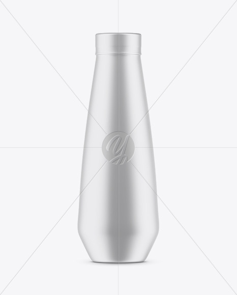 Plastic Bottle In Matte Shrink Sleeve Mockup
