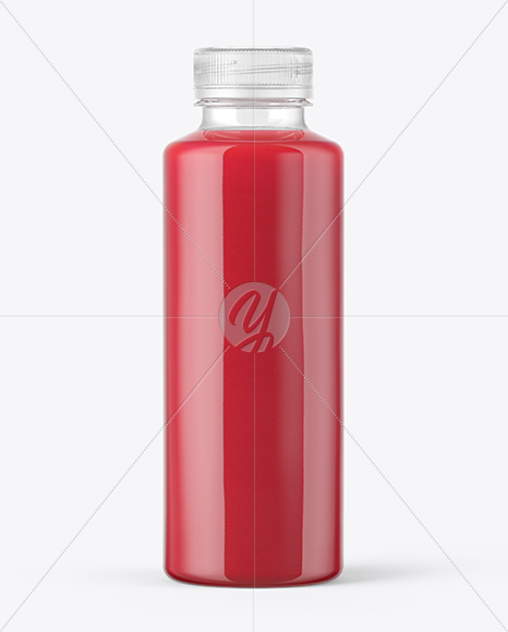 Red Drink Bottle Mockup