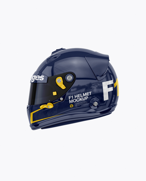 Download F1 Helmet Mockup Front View Yellowimages