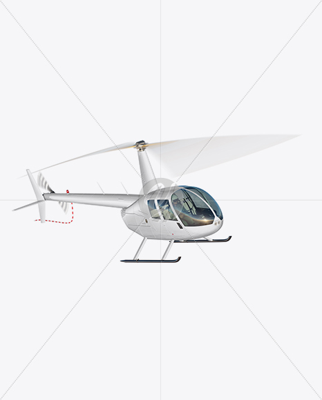 Flying Helicopter Mockup