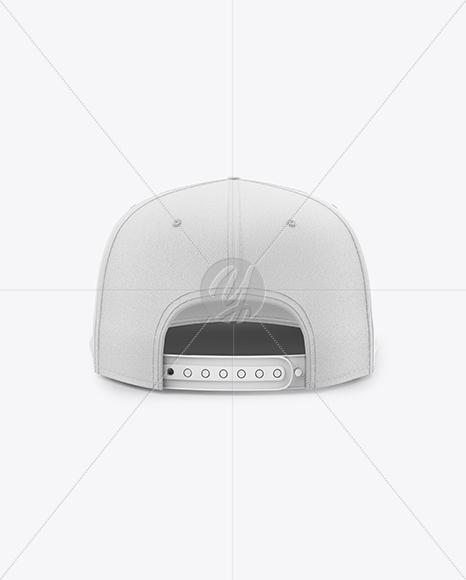Snapback Cap Mockup - Back View