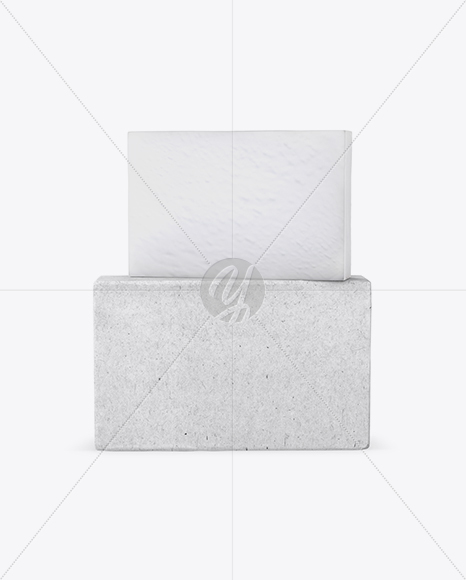 Kraft Pack With Soap Mockup