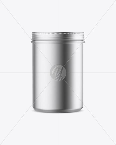 Metallic Plastic Jar Mockup