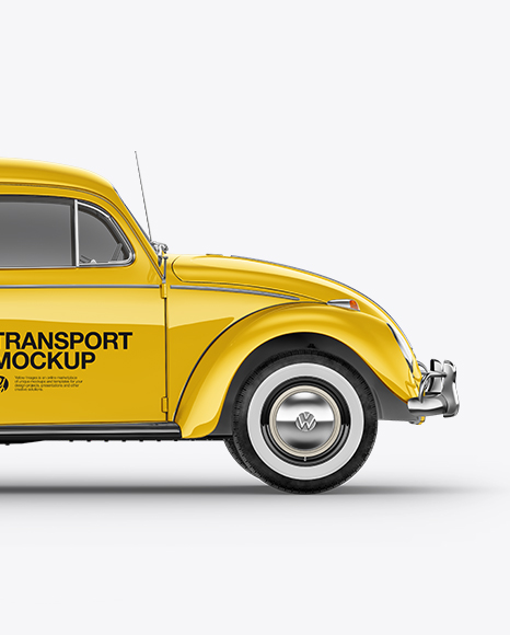 Volkswagen Beetle Mockup - Side View